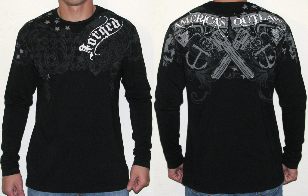 Long sleeve shirts available from Forged Clothing