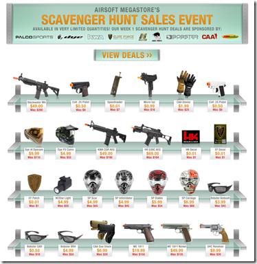 Airsoft megastore scavenger hunt deals