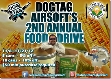 Dogtag Airsoft's 2nd annual can food drive
