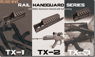 TX Rail Handguard Series, dated August 2, 2013