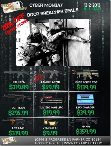 FoxAirsoft.com Cyber Monday Deals