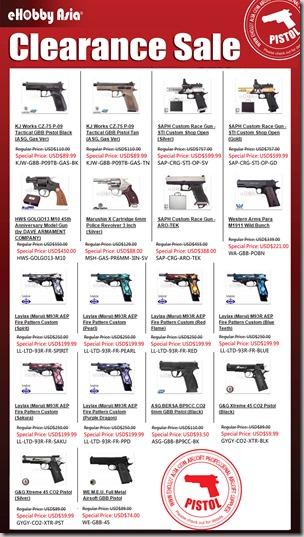 Clearance Sale 2015 - Pistol Online ver