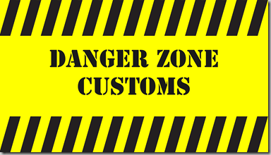 Danger Zone Customs Logo