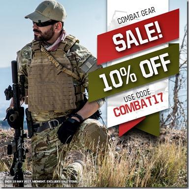 Combat Gear Sale 2017 Instagram