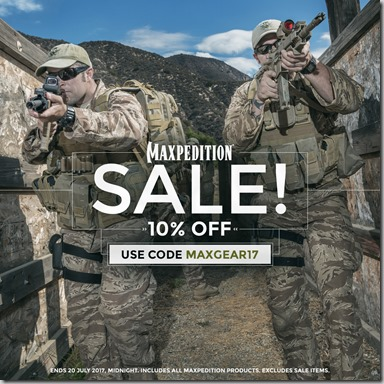 Maxpedition Sale 2017 Instagram