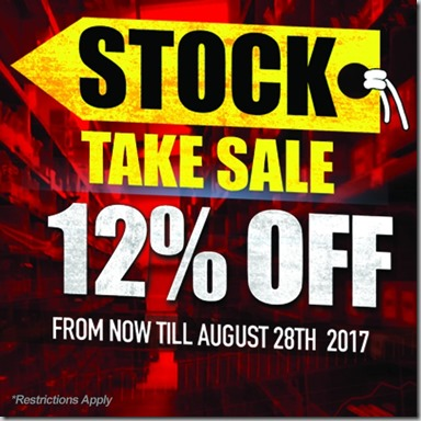 Stock Take Sale