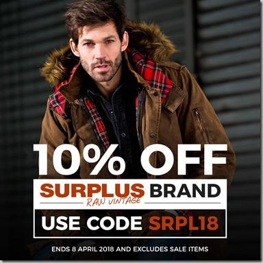 Surplus Sale 2018 Instagram